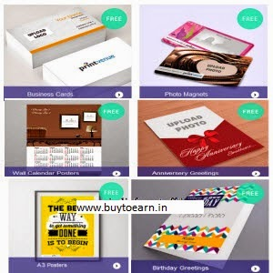 BUy Cutomized Business Cards Set of 50 or Photo Magnets or Wall Calendar or A3 Posters or Greeting Rs. 75
