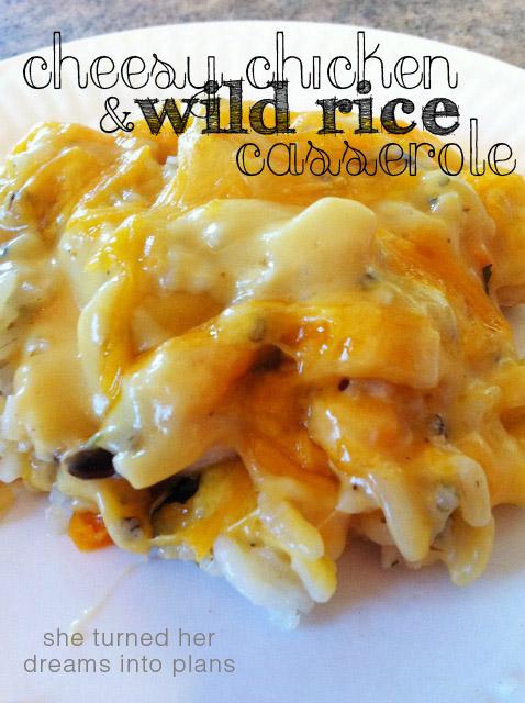 Cheesy Chicken & Wild Rice Casserole