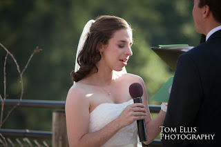 Shaina reads her wedding vows - Kent Buttars, Seattle Wedding Officiant