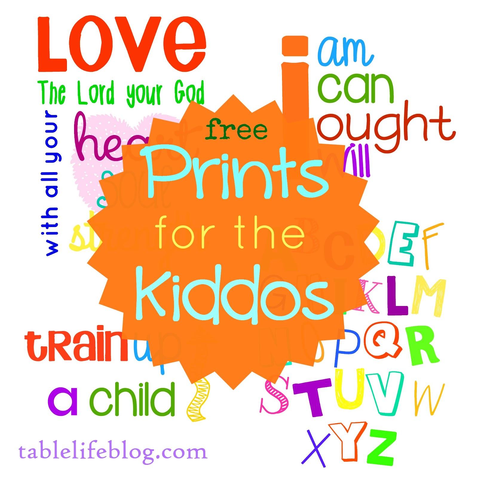 ABC - Deuteronomy 6 - Charlotte Mason - Train Up homeschool playroom school printables