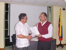 Con el Embajador de la R. B. de Venezuela en San Vicente y las Granadinas Yoel Pérez Marcano