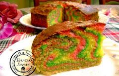 Kek Butter Pelangi (Marble Cake)