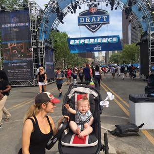 Scarlette Stole the show at the NFL Draft.
