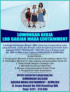 Gadjah Mada Edutainment (GME) Lampung PRINGSEWU