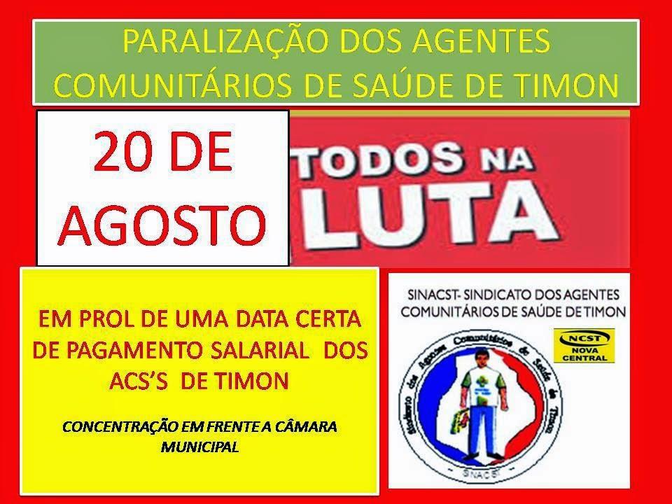 10407418 670164673062066 518323690412846089 n Paralização dos Agentes Comunitários de Saúde de Timon - MA