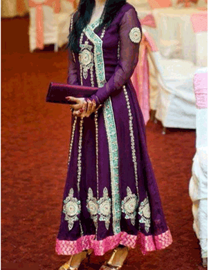 2014 Women Dresses Fashion Trends in Pakistan: Angrakha Style Frocks
