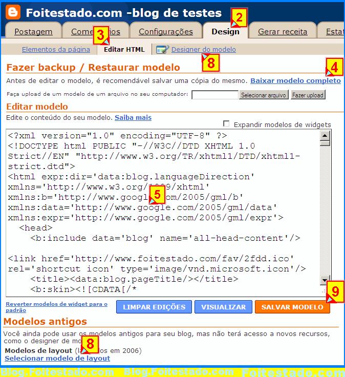 como resolver problemas no blogger com modelos de templates baixados da web