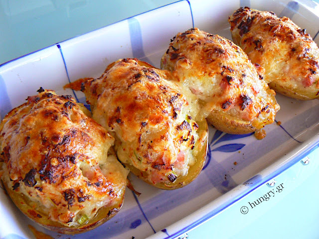Ham & Cheese Stuffed Potatoes