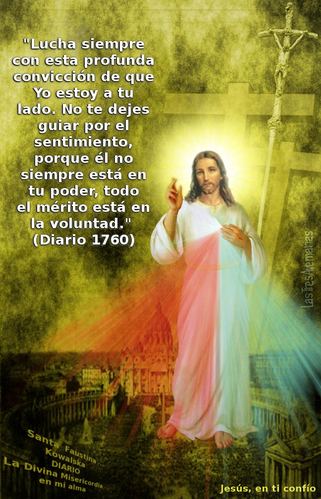 fotografia con mensaje de Jesus misericordia