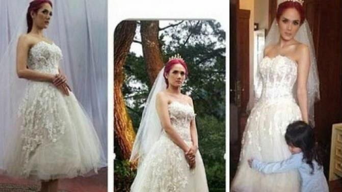 Foto Pernikahan Mulan Jamela dan Ahmad Dhani