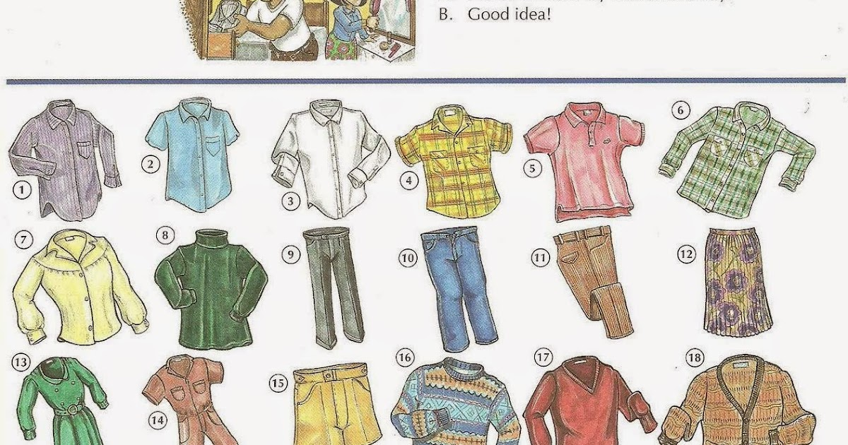 Learn English Team: Men's and Women's Clothes Vocabulary ...