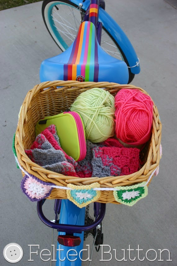 Bike Basket Bunting--Free Crochet Pattern