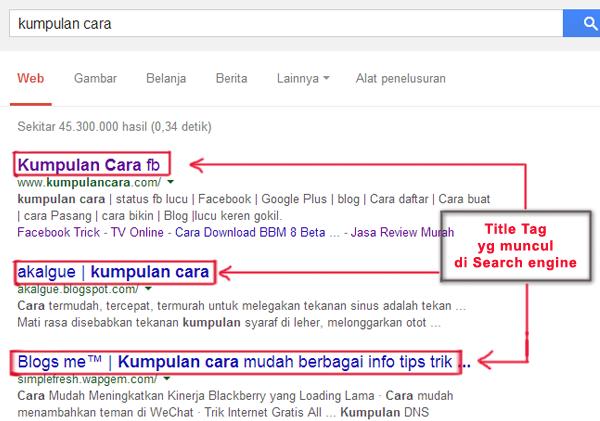 Cara Memasang Title Tag Pada blogspot yang lebih mengigit