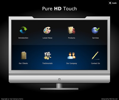 FREE FLASH TEMPLATE Pure HD Touch