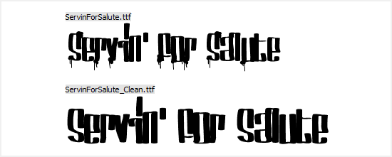 Free Graffiti Fonts - Servin' For Salute