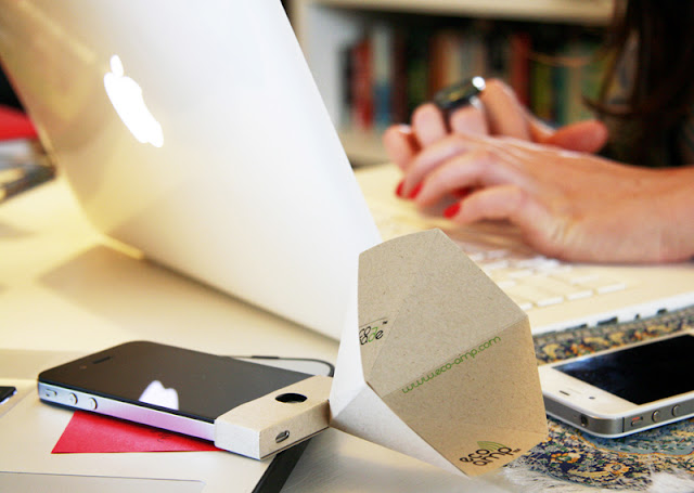Auto-falante para iPhone de papel reciclável