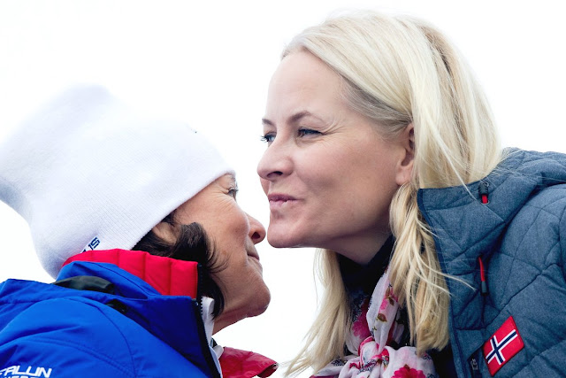 Princess Estelle of Sweden, Crown Princess Victoria of Sweden, Queen Silvia of Sweden and Crown Prince Haakon of Norway, Crown Princess Mette-Marit of Norway and Prince Sverre Magnus of Norway, Princess Ingrid Alexandra of Norway