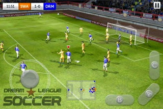 Screenshots of the Dream League Soccer for Android tablet, phone.
