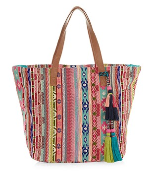 Accessorize Multi Woven Tote Bag