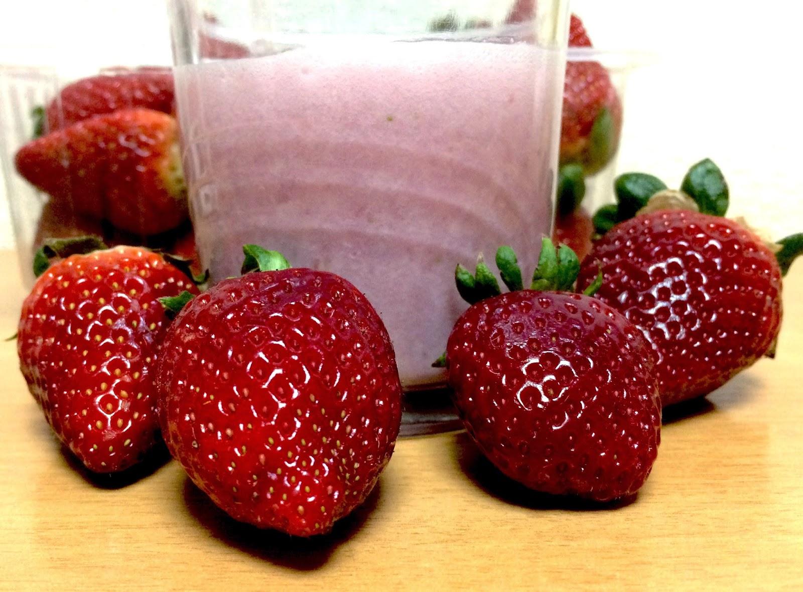 batido de fresa