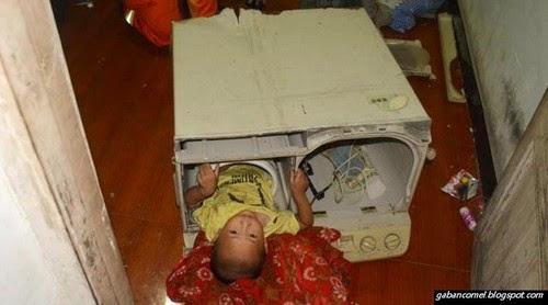 Padah Bermain Kanak kanak 3 Tahun Tersepit Dalam Mesin Basuh