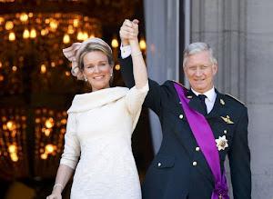 La Reine Mathilde et le Roi Filip. Heureux