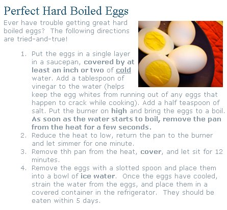 jpg of a recipe to make the perfect hard boiled eggs maybe you can ...
