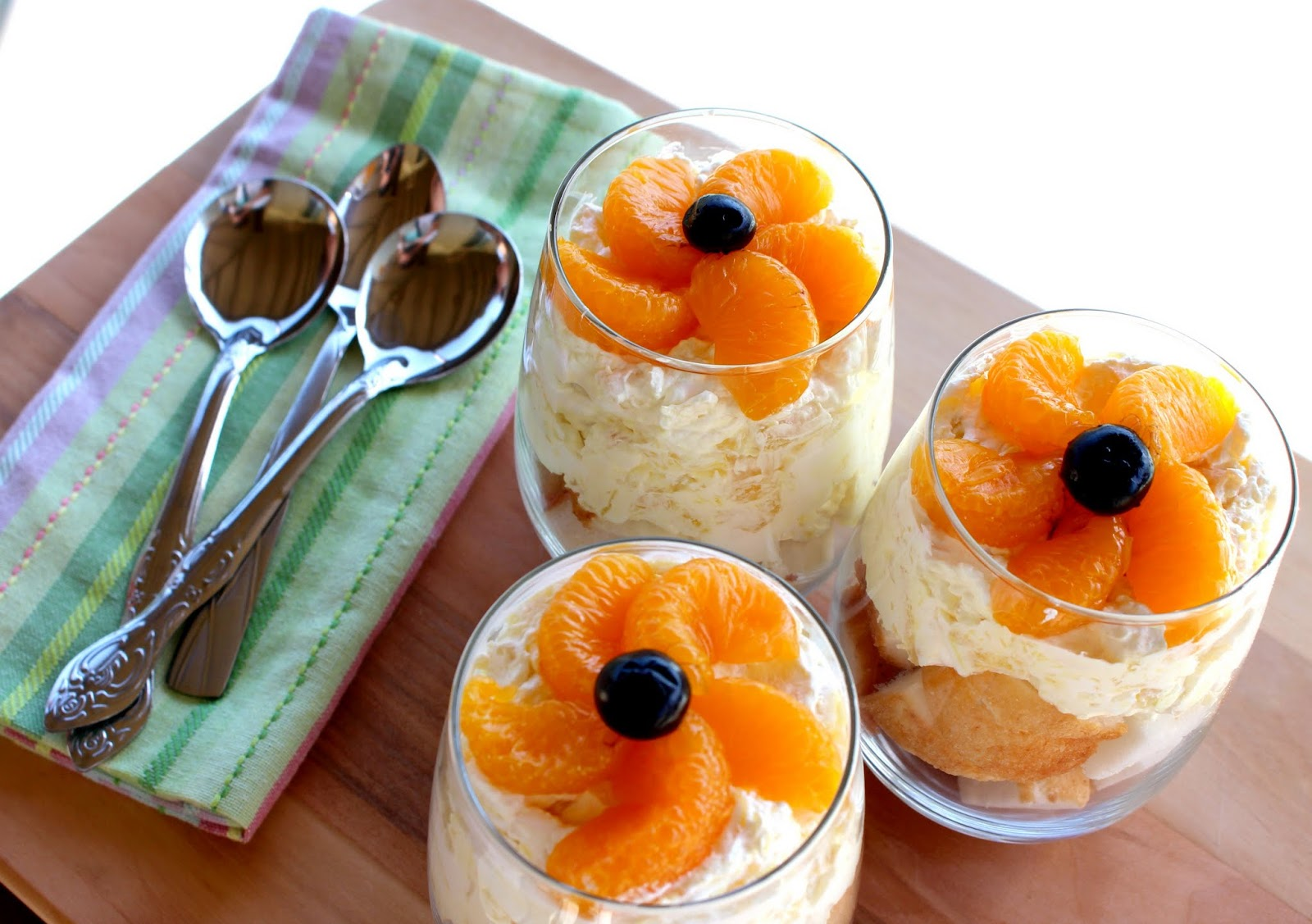 Pineapple - orange - angel food cake - trifle