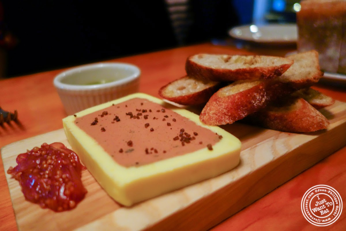 image of chicken liver pate at Left Bank in the West Village, NYC, New York