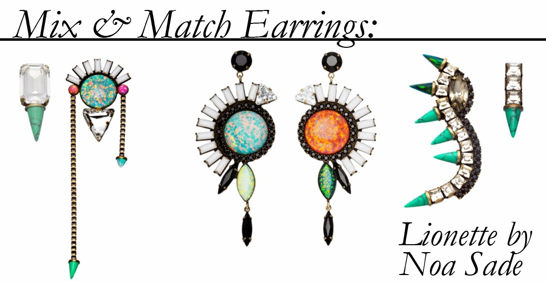 Mix & Match Earrings from Lionette by Noa Sade