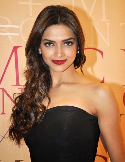 Deepika Padukone in black dress