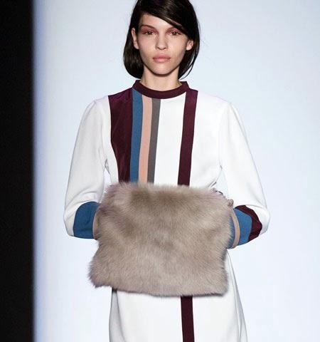 Идеи за носене на зимно палто с кожен маншон за ръцете
