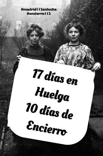 Trabajadores 112 en Huelga 17 días
