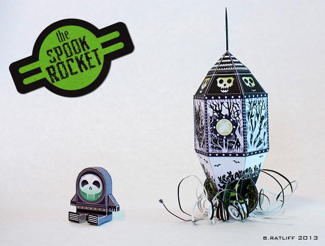 Spook Rocket Paper Toy