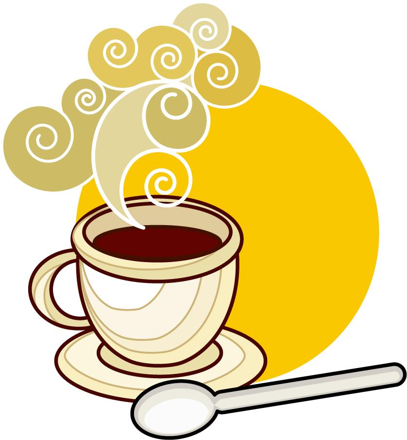 珈琲を題材にしたクリップアート coffee icon and background イラスト素材3