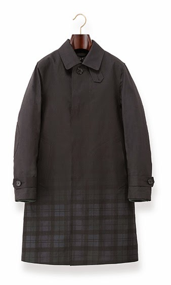 Mackintosh x Band of Outsiders Coat in Black Watch