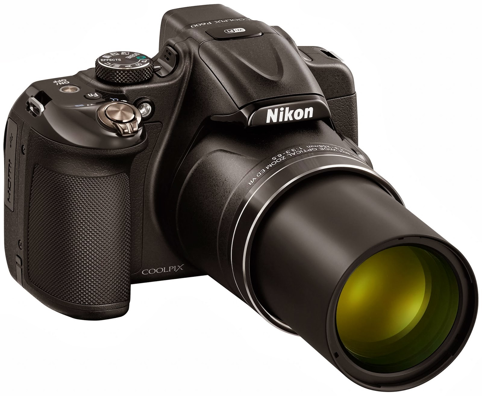 bridge camera, Full HD, Nikon Coolpix P600, prosumer camera, scene mode, social media, superzoom camera, vari-angle LCD, vibration reduction, Wi-Fi,