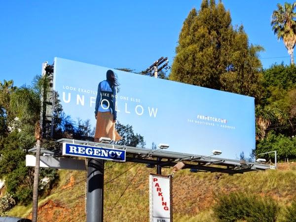 Farfetch Unfollow billboard