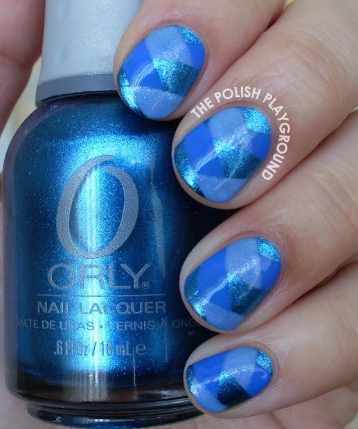 polish playground blue fishtail