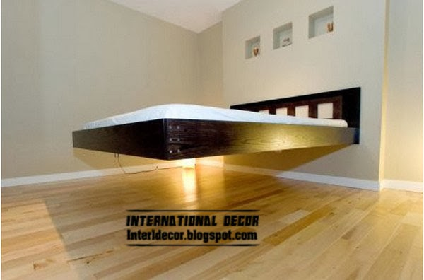 floating bed, creative beds for modern interior