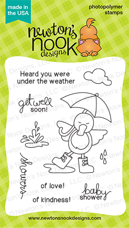 Spring Showers Stamp set by Newton's Nook Designs - Duck Stamp set