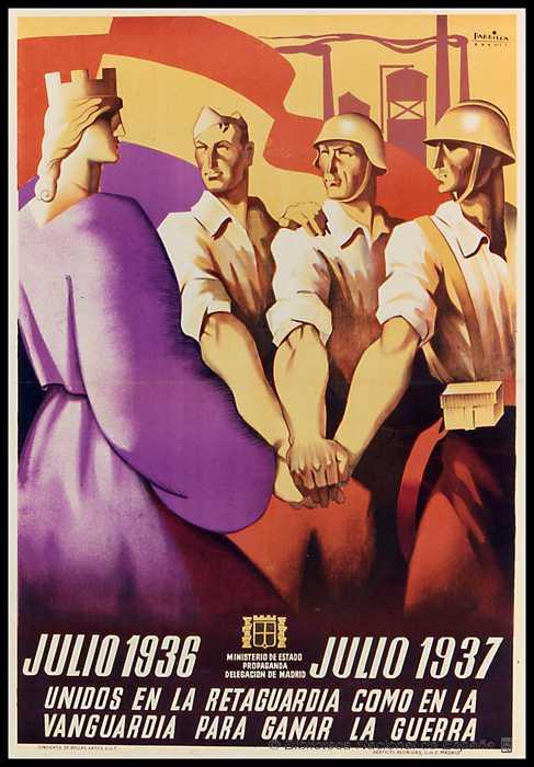 cartel antifascista de la guerra civil española