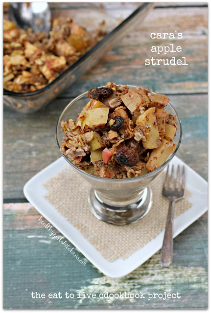 the eat to live cookbook project: cara's apple strudel