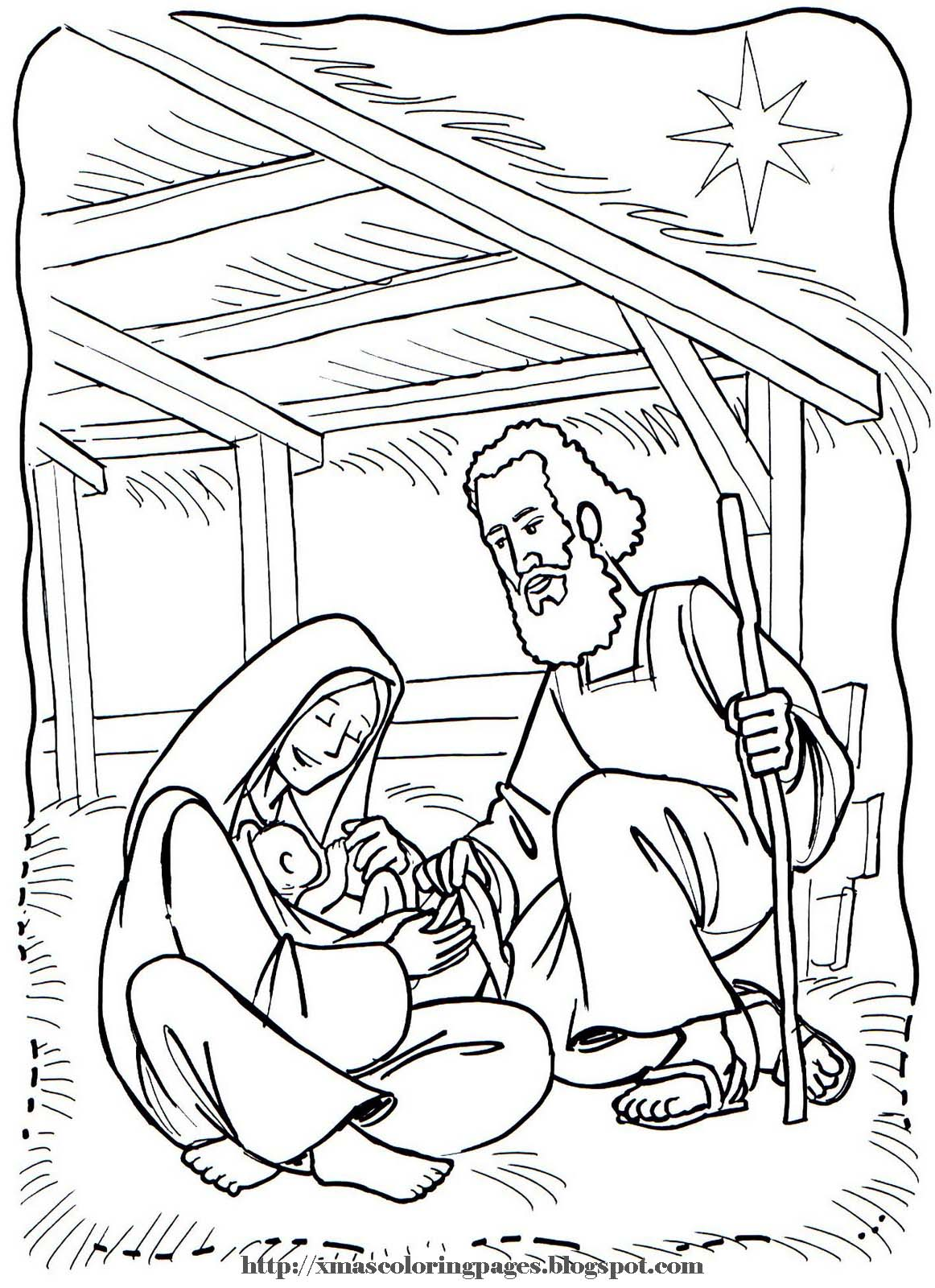 Xmas Coloring Pages Manger Coloring Pages
