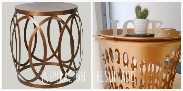 DIY. MESITA AUXILIAR CHALK PAINT COBRE