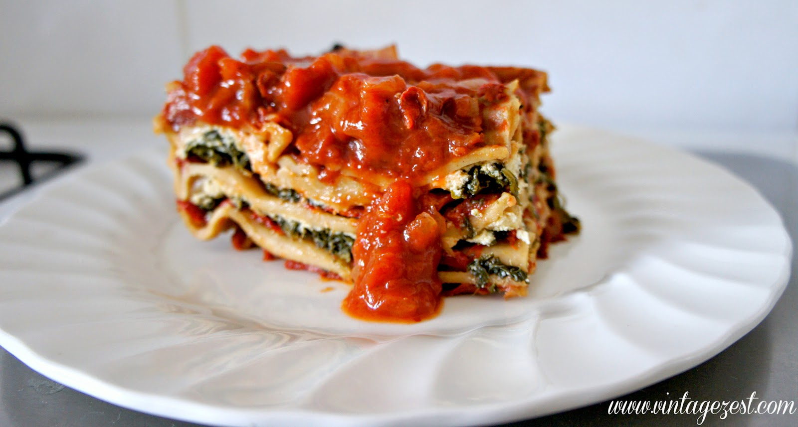 ... and spinach lasagna the original recipe a bit roasted pepper spinach