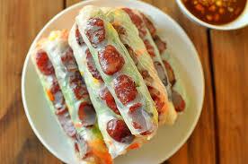 Jicama Fresh Rolls Recipe (Bò bía)