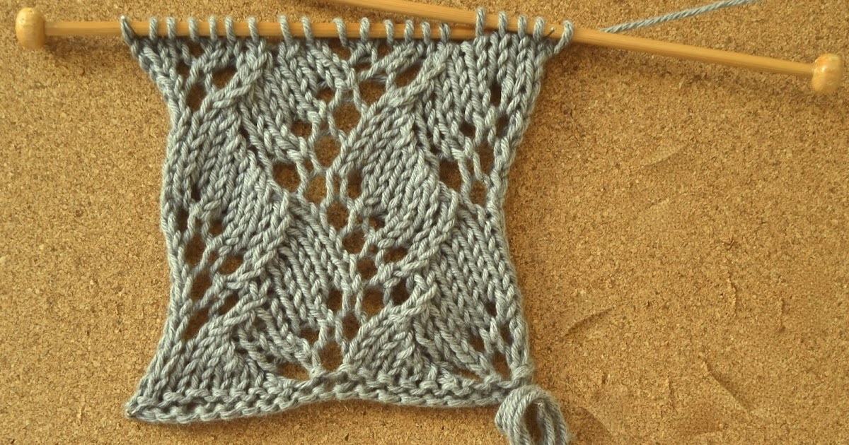 Knitting Stitch Variations : Knitting Novice: The Weekly Swatch: Fern Stitch Variation