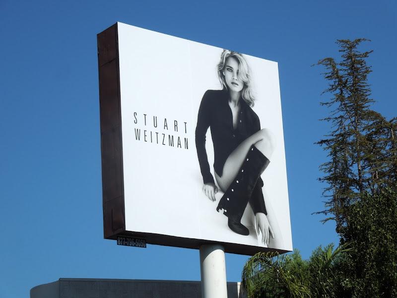 Stuart Weitzman boots billboard FW 2012