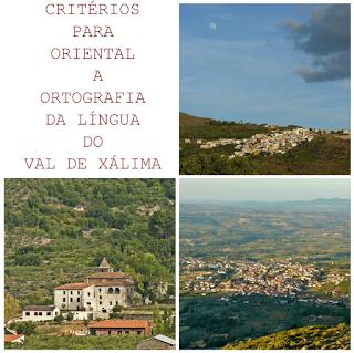 critérios para oriental a ortografia da língua do val de xálima